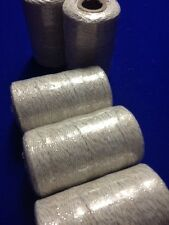 Bakers Twine Roll Silver & White Twine 2mm 5m Bundle Wedding Favours  DIY Craft