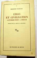 PHILOSOPHIE/EROS ET CIVILISATION/H.MARCUSE/ED DE MINUIT/1968/FREUD/HEGEL/MARX