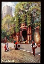 Tuck Picturesque Counties sign Jotter Wolsey's Gate Ipswich Suffolk Uk postcard