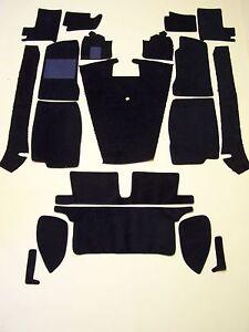 MGB 68-80 BLACK LOOP CARPET KIT with 20 oz. padding CRAZY SPECIAL PRICE