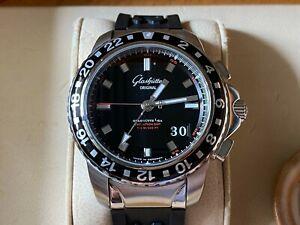 *Very Rare* Glashutte Original Sport Evolution GMT Steel Watch in FULL SET