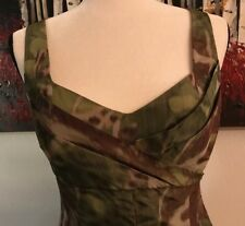 "PERUVIAN CONNECTION, Beautiful ""Rainforest"" Camo Dress, Size 2 US"