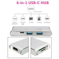 6 in 1 USB-C with Type-C Power Delivery 4K Video HD Output Alloy Card  NEW