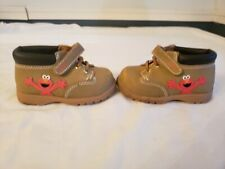 Elmo Sesame Street Hiking Boots Shoes Size 6 Hard Soles Lightly Worn
