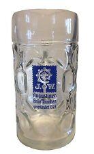"Augustiner Brau - German Beer Glass 1.0 Litre Stein - ""Masskrug"" - NEW"