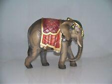 Holz Krippen Figur ELEFANT geschnitzt color (zu 11/12 cm Figuren) neu. Elefanten