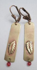New Hand-Made in the U.S.A. Bronze Leaf Earrings by O. Arakelian