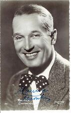 MAURICE CHEVALIER Autographe Autograph Signed Photo Card carte