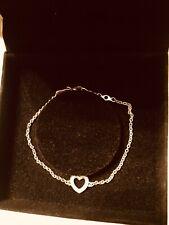 Genuine New Pandora Silver CZ Love Bracelet 590508CZ Size 18cm No Box