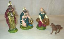 vintage Wisemen Sheperd & Dog Nativity Figures Italy