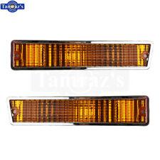 87-88 Cutlass Front Bumper Parking Marker Turn Light Lamp Lens AMBER - Pr. Repro