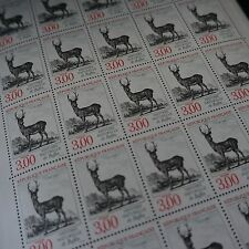 FEUILLE SHEET STAMP ANIMALS DEER N°2540 x25 1988 NEUF LUXE MNH