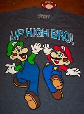 Nintendo Super Mario Bros. MARIO & LUIGI UP HIGH BRO! T-Shirt LARGE NEW w/ TAG