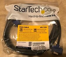 Startech 6' Coax High Resolution Monitor VGA Cable w/ Audio mxthqmm6a NEW