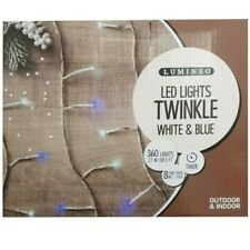 Lumineo 360 Twinkle LED Lights  White & Blue Indoor & Outdoor 27m LED's