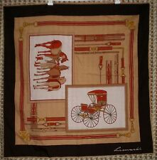 "Leonardi Brown Horses Tack & Carriage Scarf Size: 31"" x 31"""