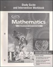 Mathematics: Applications and Concepts, Course 1, Study Guide and Intervention