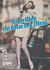 ▬► PUBLICITE ADVERTISING AD DIM Bas et collant