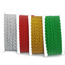 Christmas Ric Rac Roll Trim Trimming Decoration 5mm Gold Silver Green Red Green