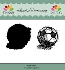 Dixi Crafts Clearstamp Stamp FOOTBALL 2pc DCSTAMP0084