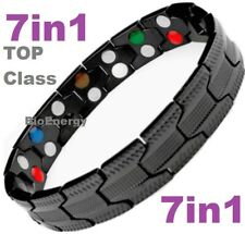 TITANIUM Magnetic Energy Armband Power Bracelet Health Bio 7in1 Bio Black 25556