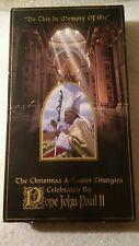 Pope John Paul II Do This in Memory of Me Christmas & Easter Liturgies (VHS) EUC