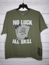 11 Bravos No Luck All Skill Follow 11B Mens Tshirt XL
