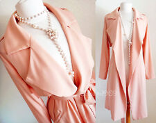 Forever21 Dusty Pink Long Duster Drapey Open Front Light Trench Coat Jacket - M