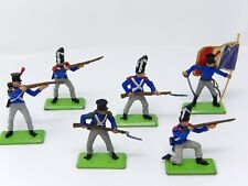 Vintage BRITAINS NAPOLEONIC DEETAIL. Full Set of 6 FRENCH Infantry.