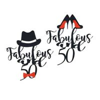 20/30/40/50th DIY Cake Topper Party Supplies Birthday Cake Decor Hat Heels LpRNc