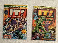 Astonishing Tales lot 2 books 23,24 It The Living Colossus, Fin Fang Foom VFn