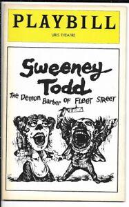 "Angela Lansbury & Len Cariou  ""Sweeney Todd""  Playbill 1979  BROADWAY  Sondheim"