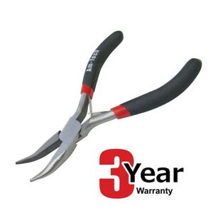 AMTECH MINI NEEDLE NOSE SIDE BENT PLIERS SMALL HAND DIY TOOL - 3 YEAR WARRANTY