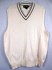 Ralph Lauren Polo Golf Men's Sweater Vest Off White Pima Large L