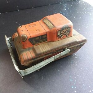 1930s? TINPLATE BULL DOZER BRAND UNKNOWN PRE OWNED CONDITION