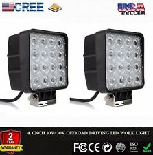 2x 48W 4000 lum High Power Flood LED Work Lights For SUV 4x4 Truck Tractor Boat