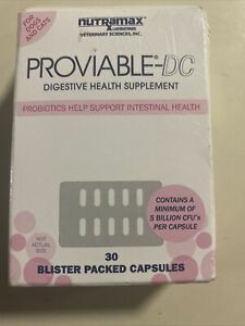Nutramax Proviable-DC Probiotic Digestive Support Dogs & Cats 30 Capsules 03/22
