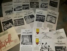 Neely Hall Patterns Wood Craft Lot of 14 Assorted Vintage 1950's Bbq Gazebo Shed