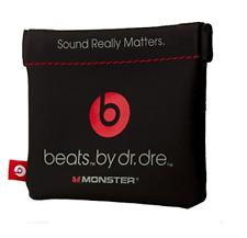 In-Ear Beats Earphone Black Carrying Pouch for Dr.Dre, iBeats, Tour, Heart by La