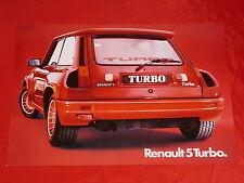 RENAULT 5 R5 Turbo Breitversion Prospektblatt von 1980