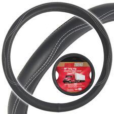 "Heay Duty Big Rig Steering Wheel Covers 18"" Inch ODORLESS Black Syn Leather"