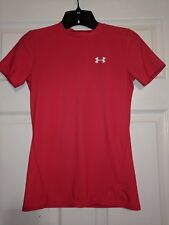 Under Armour Red Fitted Heat Gear top Size Youth Large