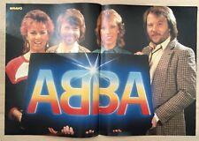 BRAVO POSTER ABBA - 80er Jahre !!!
