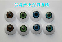 6 Color Lovely Flat Oval Plastic Ball Eyes OOAK BABY Reborn Toy Doll DIY New