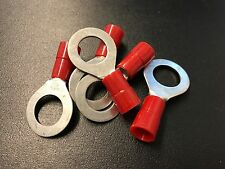 "8 Gauge 1/2"" Stud Vinyl Insulated Ring Terminals 5-Pack [454125]"
