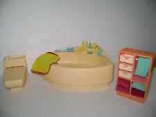 Vintage Barbie Dream House Furniture Bathroom Tub Toilet  Accessories LOT