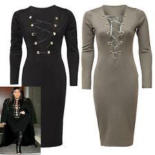 Unbranded V-Neck Long Sleeve Casual Dresses for Women