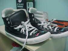 Converse Chuck Taylor All-Star Leather Hi Black Sneaker 109206 rare!! SIZE 8 MEN