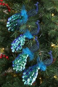 Christmas Concepts® 20cm Peacock Decoration With Jewelled Tail (DC61X4)
