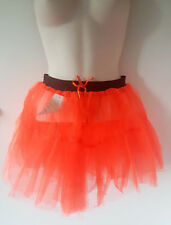Bright neon orange double layered net TUTU - To fit size 8 - 14 - Fancy dress